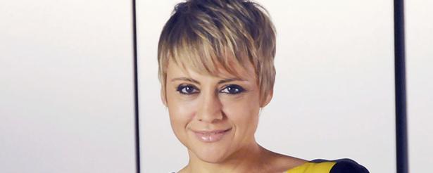 La presentadora Gloria Serra