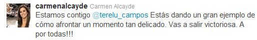 Carmen Alcayde apoya a Terelu Campos