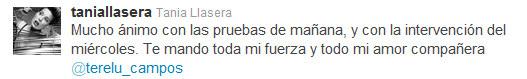 Tania Llasera apoya a Terelu Campos