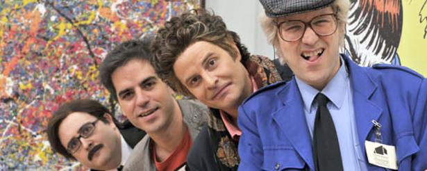 Los protagonistas de la serie de Neox 'Museo Coconut'