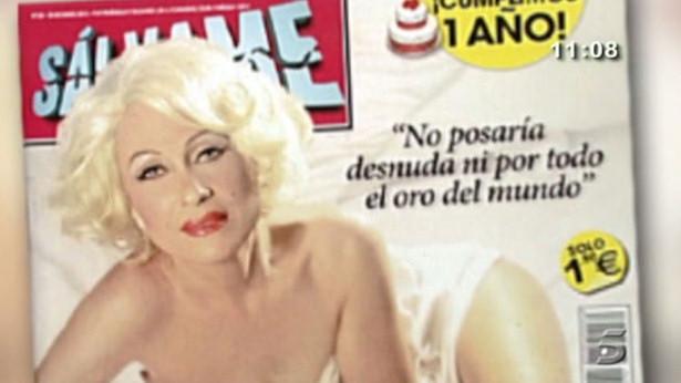 Rosa Benito posa como Marilyn Monroe en la portada de la revista