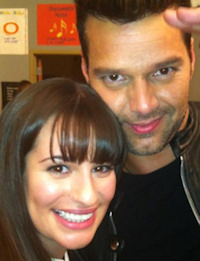 Lea Michelle y Ricky Martin en 'Glee'