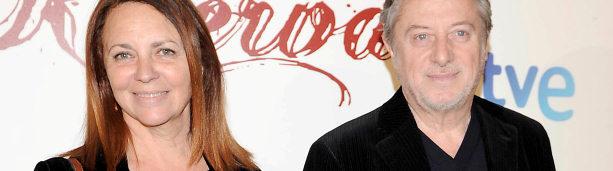 Gloria Muñoz y Manuel Galiana posan en el photocall antes de ver el estreno de 'Gran Reserva'.