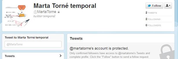Roban cuenta de Twitter de Marta Torné