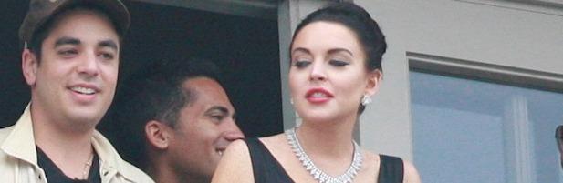 Lindsay Lohan, caracterizada de Elizabeth Taylor durante el rodaje de la tv movie 'Liz & Dick'