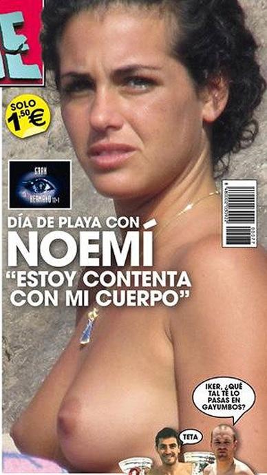 Noemí Merino, desnuda en la portada de 'Salvame'