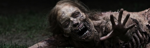 Uno de los zombies de 'The Walking Dead'
