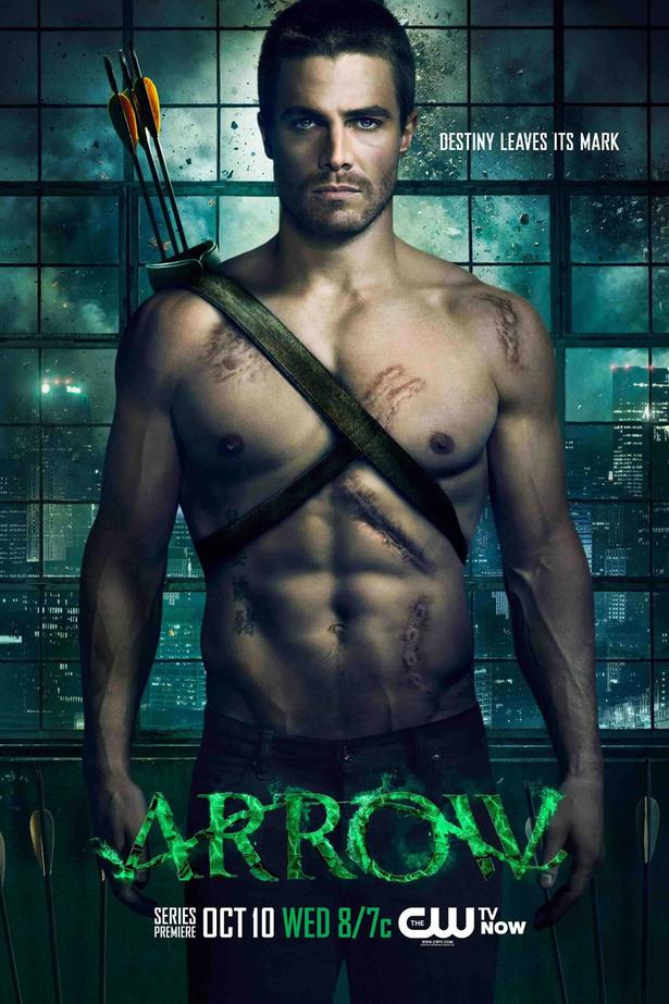 Cartel promocional de la primera temporada de 'Arrow'