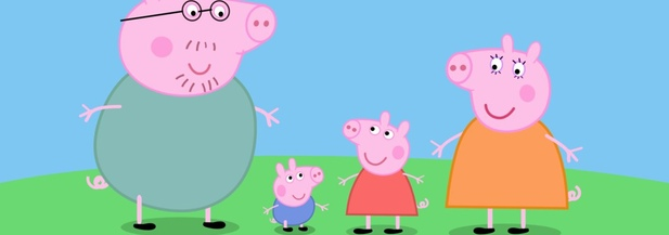 El personaje animado 'Peppa Pig' y su familia