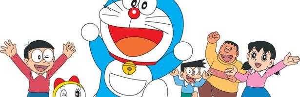 El grupo al completo de Doraemon