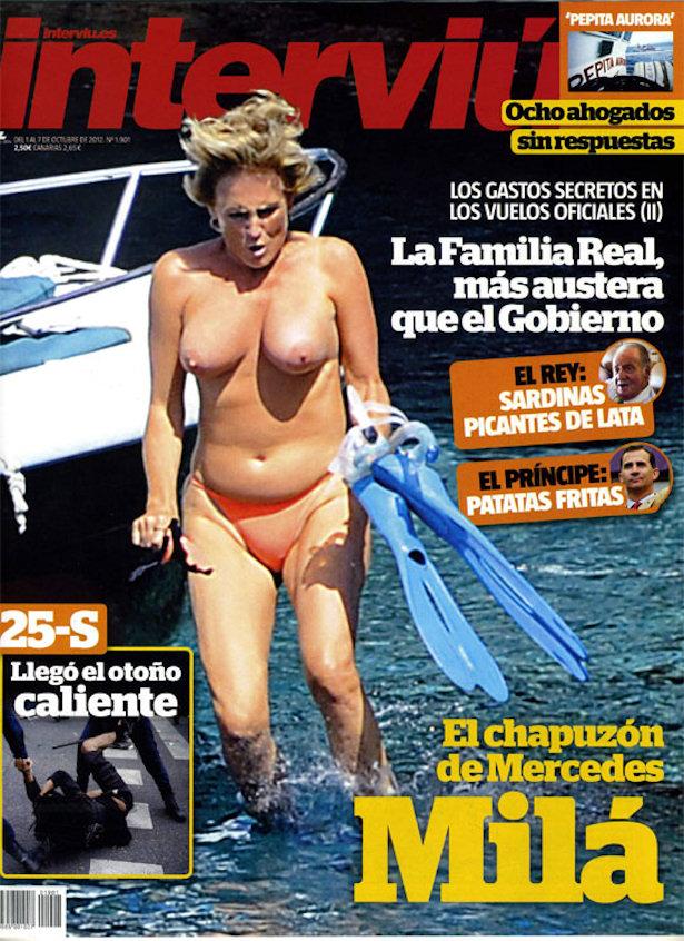 Mercedes Milá Pillada Semidesnuda En La Portada De La Revista Interviú