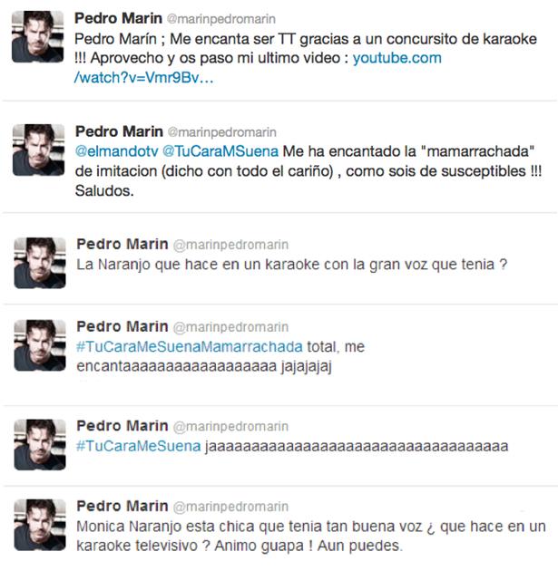 Algunos de los comentarios de Pedro Marín durante la gala de 'Tu cara me suena'