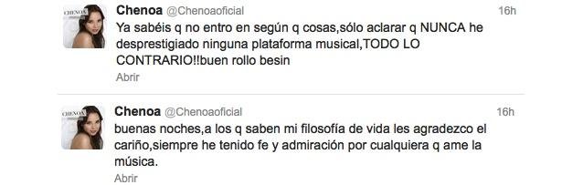 Tweets de Chenoa