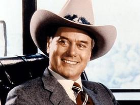 Larry Hagman, joven, en la mítica 'Dallas' de 1978