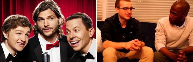 Izquierda: Actual trío protagonista. Derecha: La polémica entrevista a Angus T. Jones
