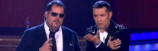Rumián y Jesús Vázquez durante la segunda gala de los directos
