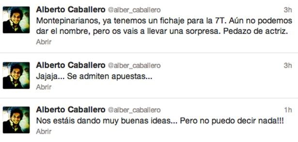 Declaraciones en Twitter de Alberto Caballero