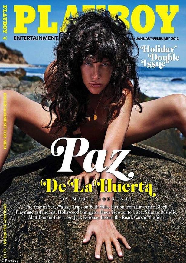 Portada del mes de enero de Playboy con Paz de la Huerta