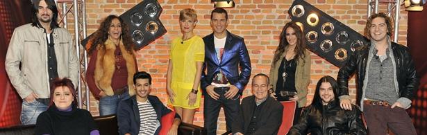 Presentadores, coaches y finalistas de la primera edición de 'La Voz'