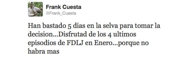 Tweet de Frank Cuesta