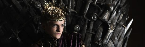 Joffrey Baratheon en el trono de hierro