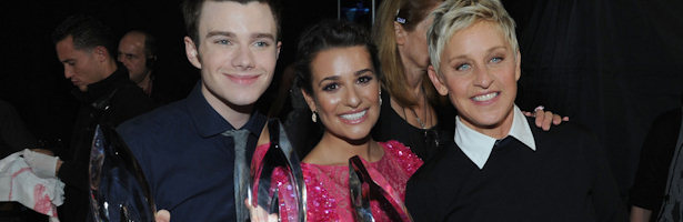 Chris Colfer, Lea Michele y Ellen DeGeneres, premiados en los People's Choice Awards