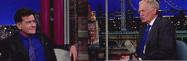 David Letterman entrevista a Charlie Sheen