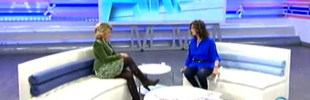 Esperanza Aguirre durante su entrevista en 'El programa de Ana Rosa'