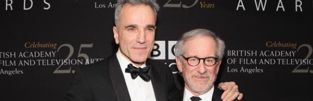 Daniel Day-Lewis y el director Steven Spielberg