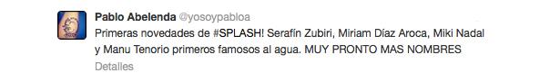 Tweet de Pablo Abelenda