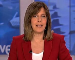 Ana Blanco, en el 'Telediario' del jueves