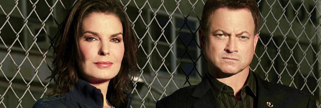 Sela Ward y Gary Sinise en 'CSI: NY'