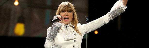 Tawlor Swift durante la gala de entrega de los Grammy 2013