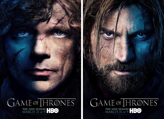Tyrion y Jamie Lannister, interpretados por Peter Dinklage y Nikolaj Coster-Waldau