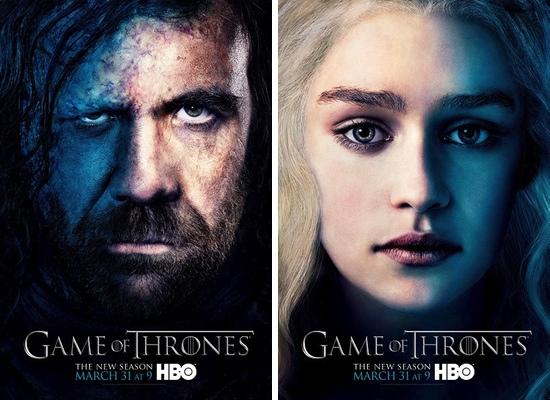 Sandor Clegane y Daenerys Targaryen, interpretados por Rory McCann y Emilia Clarke