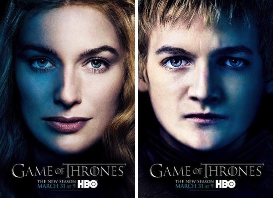 Cersei y Joeffrey Lannister, interpretados por Lena Headey y Jack Gleeson