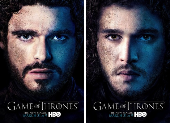 Robd Stark y Jon Nieve, interpretados por Richard Madden y Kit Harington