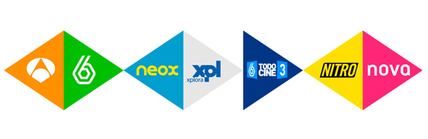Logotipos de los canales de TV de Atresmedia