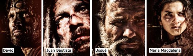 David, Juan Bautista, Josué y María Magdalena