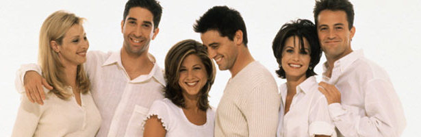 Lisa Kudrow, David Schwimmer, Jennifer Aniston, Matt LeBlanc, Courteney Cox y Matthew Perry en una imagen promocional de 'Friends'