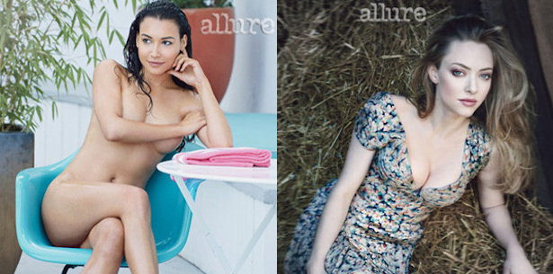 Naya Rivera y Amanda Seyfried en Allure