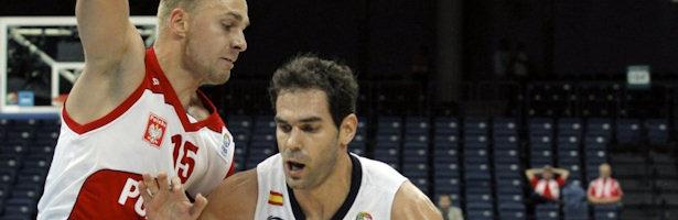 Calderón en un partido con la Selección Española de baloncesto