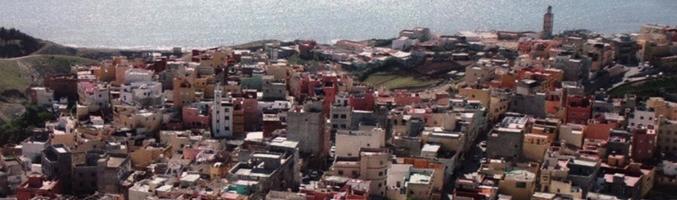 Vista aérea del barrio El Príncipe en Ceuta