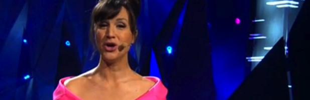 La presentadora Petra Mede en el Festival de Eurovisión 2013