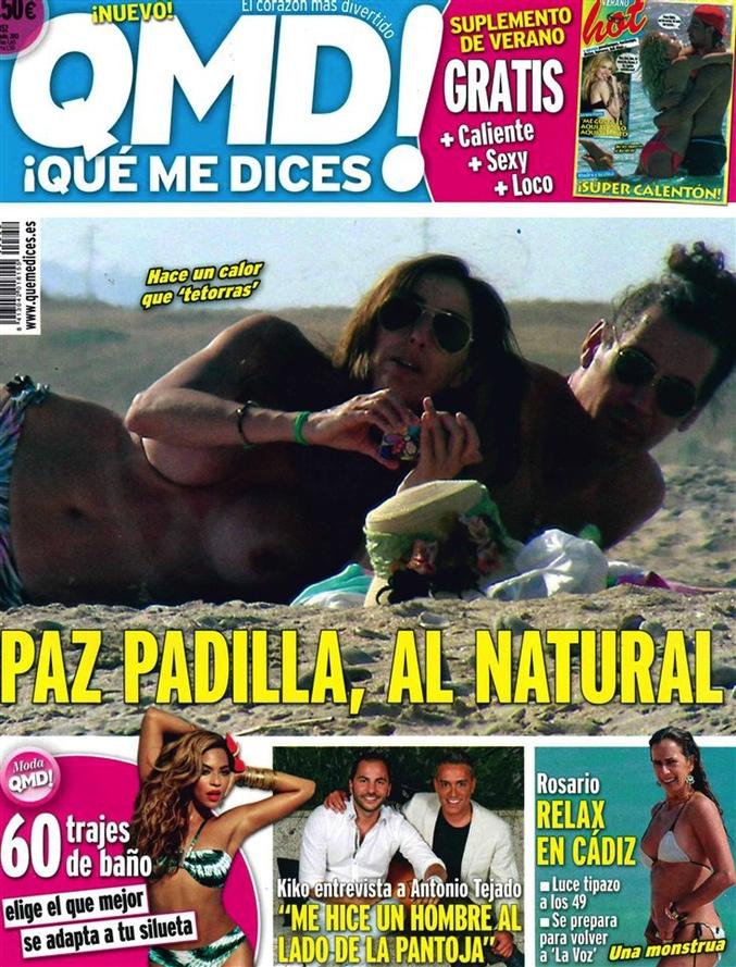 Paz Padilla desnuda en la portada de ¡Qué me dices!