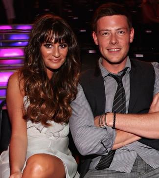 Monteith y su pareja, Lea Michele
