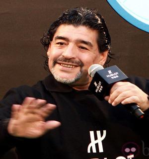 Maradona en un acto deportivo