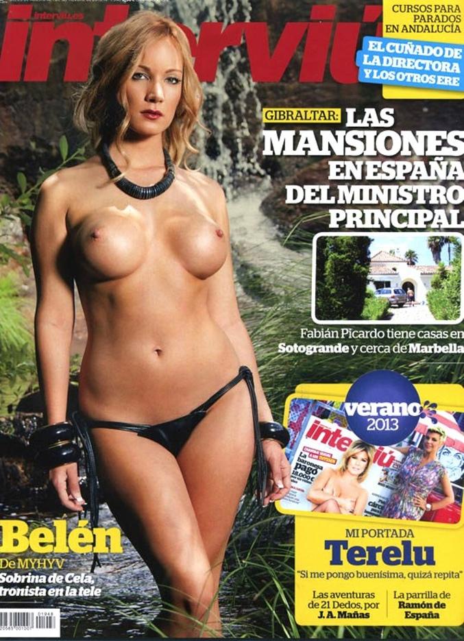 Belén Roca desnuda en Interviú