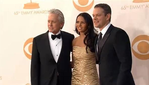 Michael Douglas y Matt Damon en los Emmy 2013