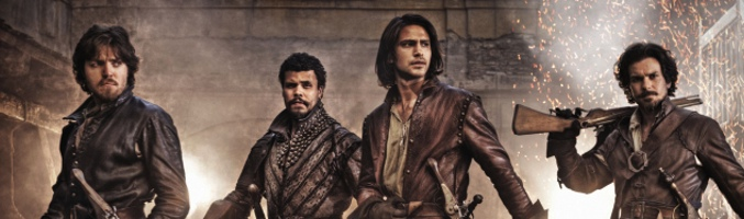 Santiago Cabrera, Howard Charles, Luke Pasqualino y Tom Burke en 'Los mosqueteros'